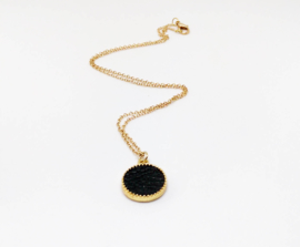 "Ketting ""Black Leather"""
