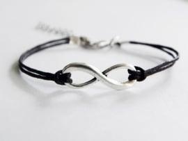 Infinity Armband -  Donkerbruin