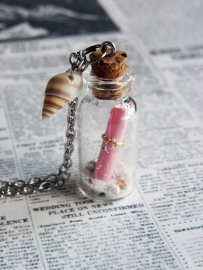 "Bottle Ketting ""Message In A Bottle"""