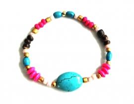 """Armband """"Beaded Turquoise Stone"""""""