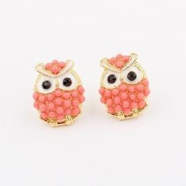 """Oorbellen """"Coral Owl"""""""