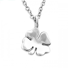 "Subtiel Kettinkje ""Four Leaf Clover"" 925 Sterling Zilver"