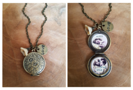 "Medaillon Ketting ""Vintage Love"""