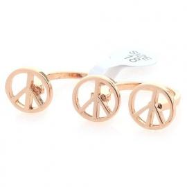 """Two Finger Ring """"Peace"""" Goudkleur"""