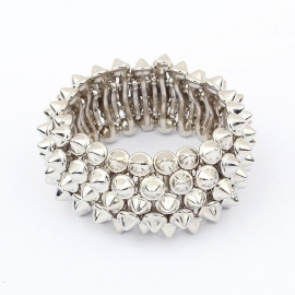 "Armband ""Stretchy Silver Rivets"""