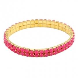 "Armband ""Elastic Pink Stones"""