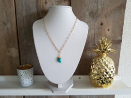 "Schakel Ketting ""Amazonite Tooth"" Stainless Steel"