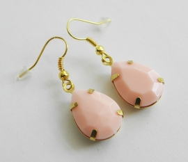 "Oorbellen ""Light Pink Drop"""