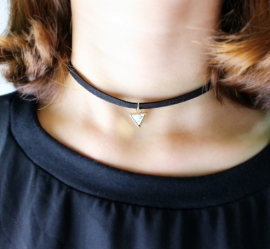 "Choker Ketting Marmer Look ""Marble Triangle"""