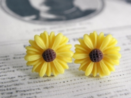 "Oorstekers ""Yellow Daisy"""
