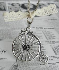 "Ketting ""Bicycle Race"" Zilverkleurig"
