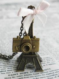 "Eiffeltoren Ketting ""Pictures Of Paris"" Bronskleurig"