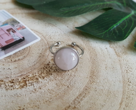 "Ring ""Rose Quartz"" Stainless Steel"