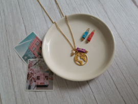 """Wereldbol Ketting """"You Are My World"""" Stainless Steel"""
