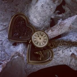 "Medaillon Ketting ""Left My Heart In Paris"""