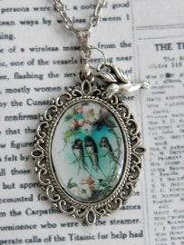 "The Vintage Birds Collection Ketting ""3 Little Birds"""