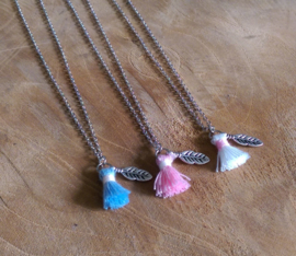 "Subtiele Ketting ""Feather & Tassel"""