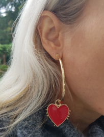 "Statement Oorbellen ""Red Hot Love"""