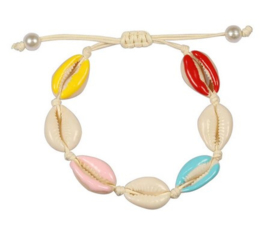 "Schelpen Armband ""Colourful Seashells"""