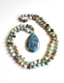 """Halfedelsteen Ketting """"Amazonite Beads"""""""
