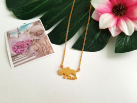 "Olifant Ketting ""Mother & Baby Elephant"""