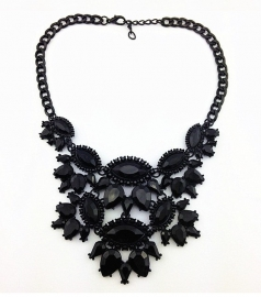 "Statement Ketting ""All Black"""