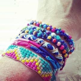 """Ibiza Armband """"Ibiza Festival"""" Forever Pink & Blue"""
