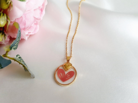 "Hart Ketting ""From Me With Love"" Stainless Steel - Met Of Zonder Kaartje"