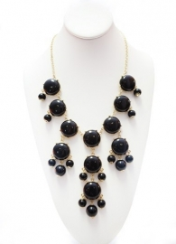 "Statement Ketting ""Big Bubbles""  Black"