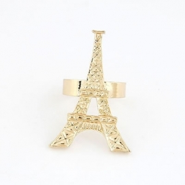 "Ring ""Eiffel Tower"" Goudkleur"