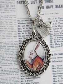 "Alice in Wonderland ketting ""White Rabbit"""