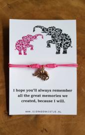 """Wish Armband """"Pink Elephant"""""""