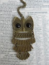 "Uil Ketting ""Big Owl"" Bronskleurig"