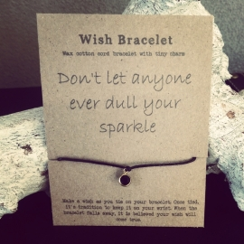 "Wish Armband ""Dull Your Sparkle"""