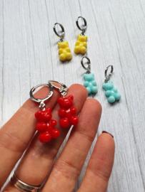 """Gummibeer oorbellen """"Sweet Little Bear"""" Keuze uit veel kleuren"""
