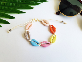 "Schelpen Armband ""Happy Colours"""
