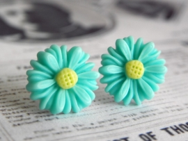 "Oorstekers ""Turquoise Daisy"""