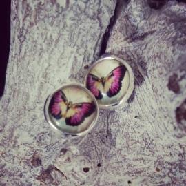 """Verzilverde Clip Oorbellen Met Vlinder """"Butterfly"""""""