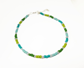 """Choker met Kralen """"Blue & Green Beads"""""""