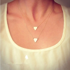 "Layering Ketting ""Double Triangle"""