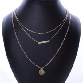 "Layering Ketting ""Gold Bar"""