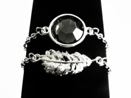 "Armband ""Silver Feather"""