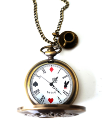 "Ketting met Klokje ""Alice in Wonder Time"" Large"