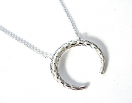 "Ketting ""Tribal Ox Horn"" Silver Plated"