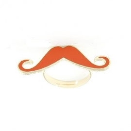 "Snor Ring ""Orange Mustache"""