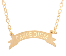 "Ketting ""Carpe Diem"" Gold of Silver Plated"