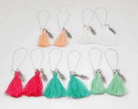 """Ibiza Style Oorbellen """"Tassel & Feather"""""""
