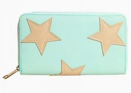 "Portemonnee ""Stars"" Mint / Licht Turquoise"