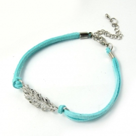 "Veer Armband ""Turquoise Feather"""