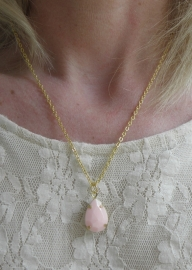 "Ketting ""Light Pink Drop"""